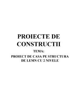 Proiect - Proiect de casă pe structură de lemn cu 2 nivele