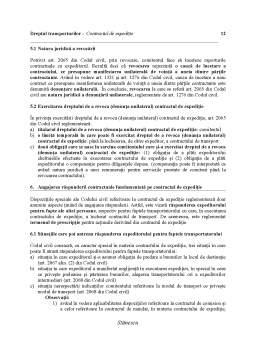 Curs - Dreptul transporturilor - Contractul de expediție