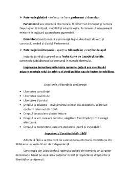 Curs - Constituțiile romanești