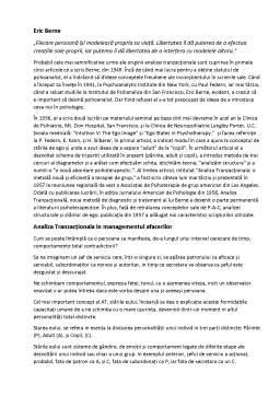 Referat - Comunicare și relații publice în afaceri - Analiza tranzacțională