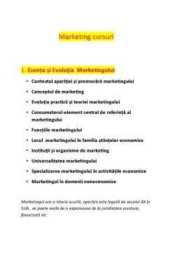 Curs - Marketing