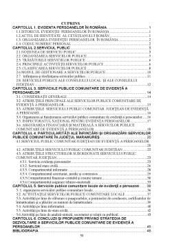 Disertație - Serviciile publice comunitare de evidență a persoanelor