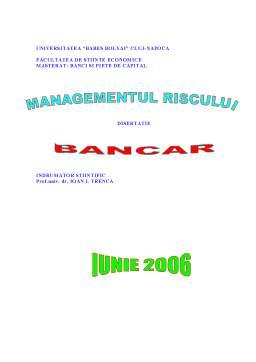 Proiect - Managementul Riscului Bancar