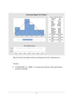 Proiect - Metode statistice aplicate în inginerie