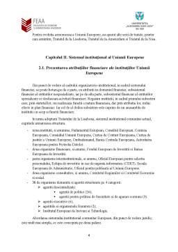Seminar - Instituții ale Uniunii Europene - atribuții financiare și modul de înfăptuire a acestora