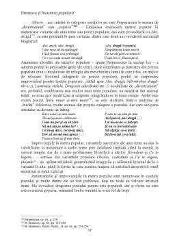 Licență - Eminescu și literatura populară