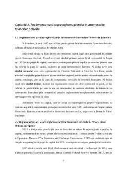 Seminar - Reglementarea și supravegherea piețelor instrumentelor financiare derivate - Abordare comparativă