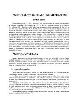 Referat - Politici structurale ale Uniunii Europene