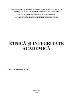 Proiect - Etnică și integritate academică