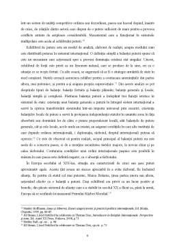 Referat - Diplomația între realism și idealism - Studiul teoriilor internaționale