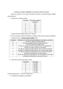 Seminar - Evaluarea și selecția candidaților în cazul unui contract de produse (de furnizare)