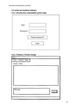 Curs - Documentul de specificație a cerințelor - Instant Messenger