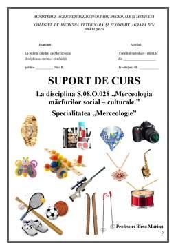 Curs - Merceologia mărfurilor social - culturale