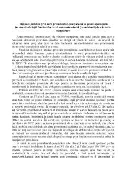 Laborator - Mijloace juridice de apărare ale promitentului-cumpărător prin intermediul cârții funciare