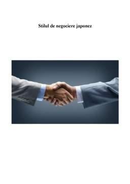 Seminar - Stilul de negociere japonez