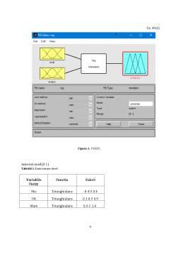 Proiect - Controlul Fuzzy în reglarea automată a nivelului în rezervor