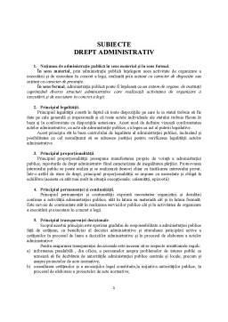 Seminar - Subiecte drept administrativ