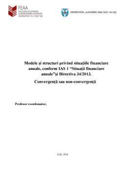 Curs - Modele si structuri privind situatiile financiare anuale, conform IAS 1 - Situatii financiare anuale si Directiva 34-2013
