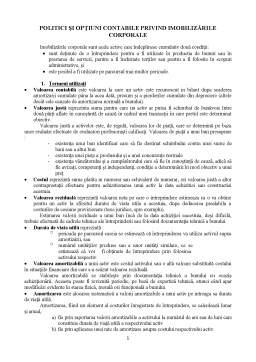 Curs - Politici și opțiuni contabile privind imobilizările corporale