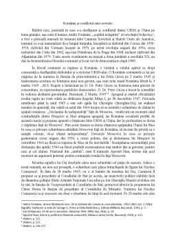Referat - România și conflictul sino-sovietic