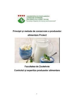 Proiect - Principii și metode de conservare a produselor alimentare
