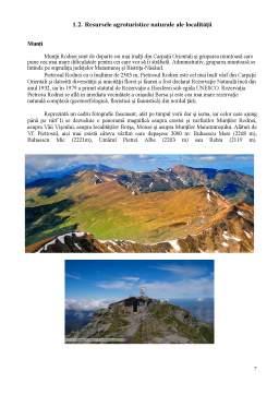 Proiect - Legislație în a.p.a. și resursele agroturistice ale României Borșa