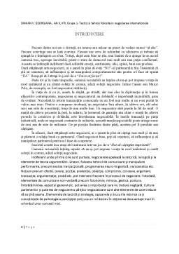 Proiect - Tactici și tehnici în negocierea internațională