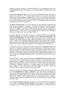 Referat - Literary Periods of British and American Literature