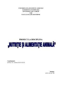 Proiect - Nutriția și Alimentația Animală