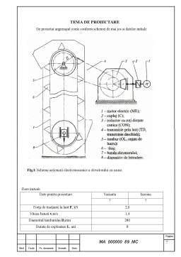Licență - Caluclul motorului sincron cu reductor conic
