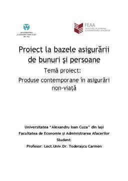 Proiect - Produse contemporane în asigurări non-viață