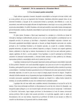 Referat - Integrarea socială a minorităților din România