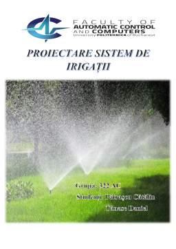 Proiect - Proiectare sistem de irigații