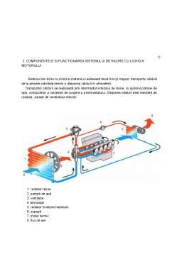 Proiect - Sistemul de răcire cu lichid al motorului cu ardere internă