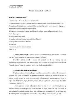 Proiect - Proiect individual UCINET
