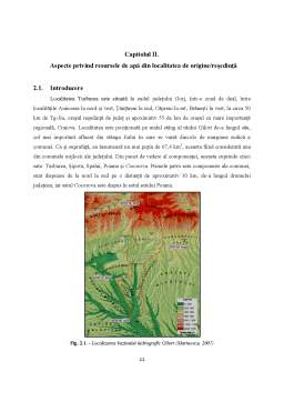 Proiect - Monitorizarea și managementul resurselor de apă din cadrul localității Turburea județul Gorj