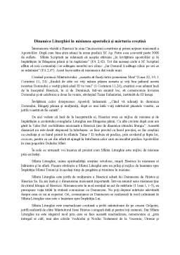 Seminar - Dinamica Liturghiei în misiunea apostolică și mărturia creștină