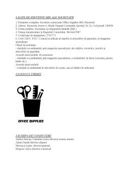 Proiect - Office Supplies - Economia Comerțului