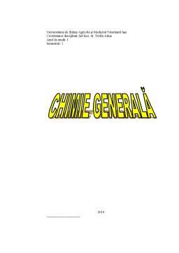 Curs - Chimie generală
