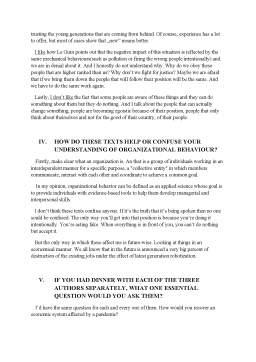 Referat - Organizational behaviour essay