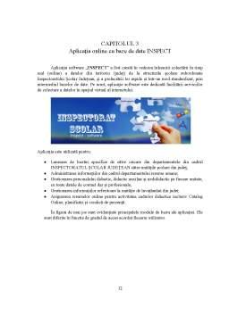 Licență - Integrarea web a sistemelor informatice și a bazelor de date în managementul resurselor materiale și umane din educație