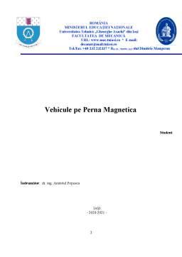 Proiect - Vehicule pe pernă magnetică