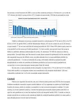 Proiect - Impactul pandemiei COVID-19 asupra economiei României