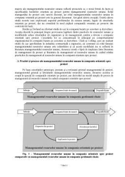 Proiect - Managementul resurselor umane în cadrul organizației orientată spre proiect