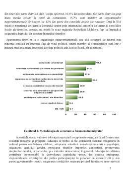 Proiect - Participarea și activitatea tinerilor în Republica Moldova