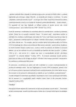 Referat - Constructionismul social și asistența socială