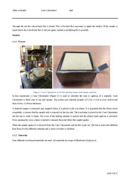Seminar - Cone Calorimeter