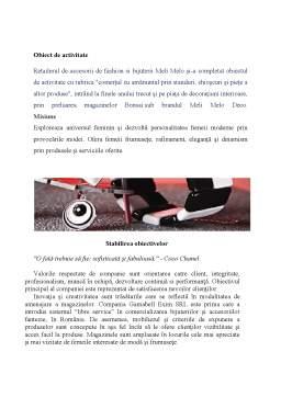 Proiect - Studiu privind conducerea și organizarea unei afaceri în sistem franciză în C.T.S.O Meli Melo