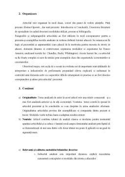 Seminar - Recenzie articol Business History - Business history as history