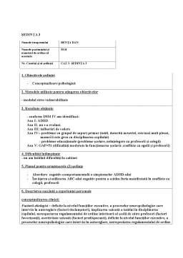 Proiect - Programe de intervenție psihopedagogică la copiii cu ADHD
